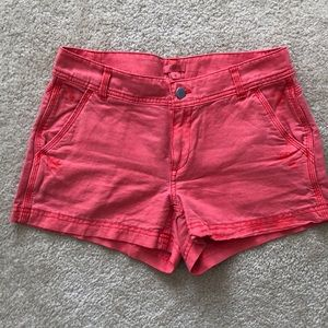 J.Crew Red linen blend shorts size 0
